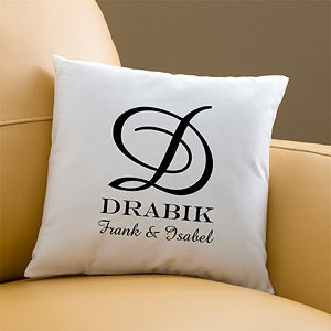 Personalized Throw Pillows - Family Monogram - 11686