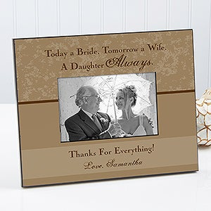 Personalized Wedding Picture Frame - Father Of The Bride - 11688