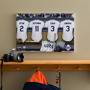 Personalized Tampa Bay Rays MLB Baseball Locker Room Canvas - 11698