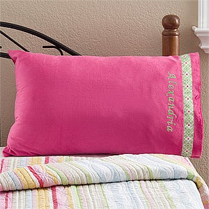 Personalization Mall Girls Personalized Pink Pillow Case - Micro Fleece at Sears.com