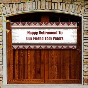 Personalized Retirement Party Banner - Happy Retirement - 11714