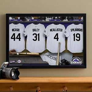 Personalized Colorado Rockies MLB Baseball Locker Room Canvas - 11718