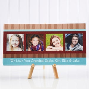 Personalized Photo Canvas Art for Dad - Photo Message - 11720
