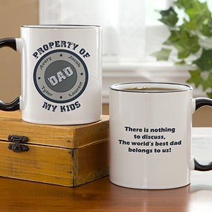Personalized Fathers Coffee Mug - Property Of My Kids - 11723
