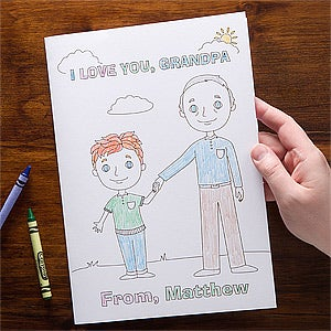 Personalized Grandpa Oversized Greeting Cards - Grandpa & Me - 11732
