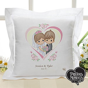 Personalized Precious Moments Wedding Pillow - 11746