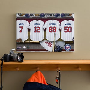 Personalized Minnesota Twins MLB Baseball Locker Room Canvas - 11747