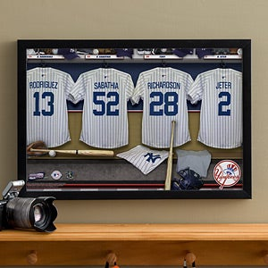 Personalized New York Yankees MLB Baseball Locker Room Canvas - 11749