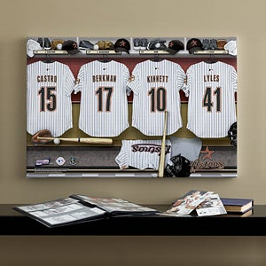 Personalized Houston Astros MLB Baseball Locker Room Canvas - 11751