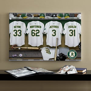 Personalized Oakland A's MLB Baseball Locker Room Canvas - 11752