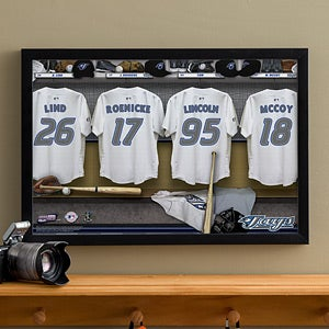Personalized Toronto Blue Jays MLB Baseball Locker Room Canvas - 11753