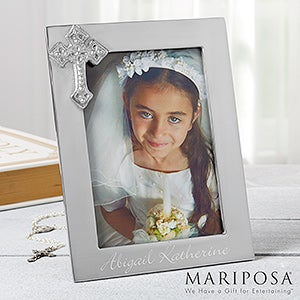 Engraved Silver First Communion Picture Frame - Reed & Barton - 11754