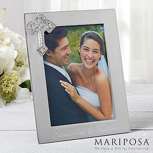 Engraved Silver Wedding Picture Frames - Reed & Barton - 11755