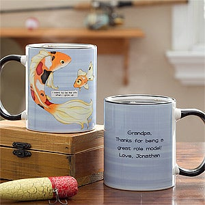 Personalized Father Coffee Mugs - Big Fish, Little Fish - 11761