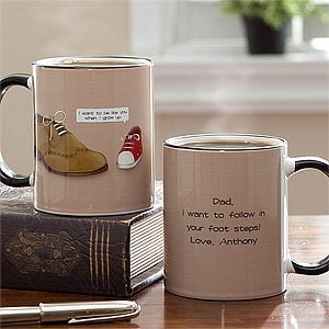 Personalized Coffee Mugs for Dad - In Your Shoes - 11763