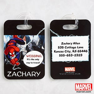 Personalized Spiderman Luggage Tags - 11770