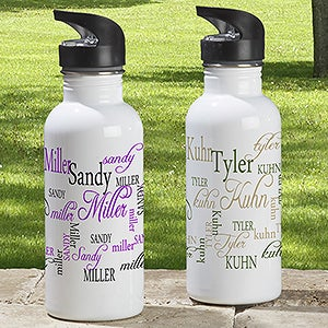 Personalized Aluminum Water Bottle - My Name - 11776
