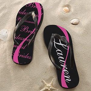 Personalized Flip Flop Sandals - Wedding Party - 11798