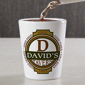Personalized Shot Glass - Classic Tavern - 11809