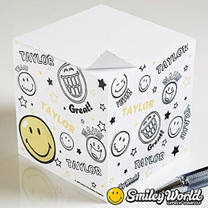 Personalized Smiley Face Note Pad - 11815