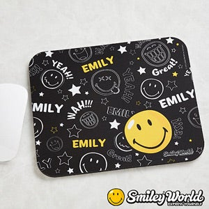 Personalized Smiley Face Mouse Pad - 11816