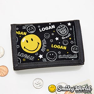 Personalized Smiley Face Kids Wallet - 11818