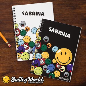 Kids Personalized Smiley Face Mini-Notebooks - 11820
