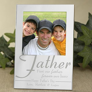 Engraved Silver Picture Frames - For My Father - 11858