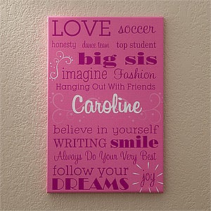Girls Personalized Canvas Art - Her Life - 11860