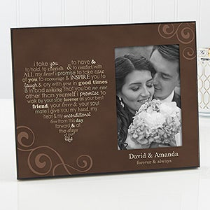 Personalized Picture Frames - Wedding Vows - 11862