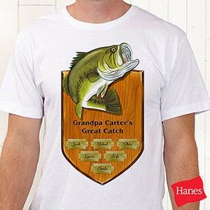 Personalized Fishing Shirts - Fisherman's Plaque - 11867