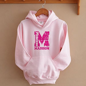 Personalization Mall Girls Personalized Athletic Sweatshirt - Pink at Sears.com
