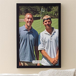 Personalized Golf Photo Canvas Art - Perfect Day - 11912
