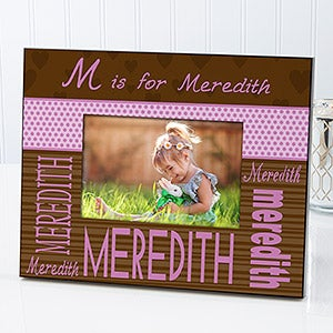 Personalized Kids Picture Frames - Girls Alphabet Name - 11913