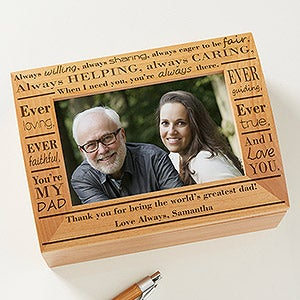 Personalized Photo Keepsake Box - Definition of Dad - 11920