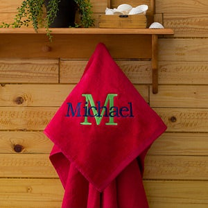 Kids Personalized Beach Towels - All About Me - 11931