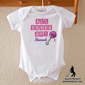 Personalized Baby Clothes - Elvis All Shook Up - 11940