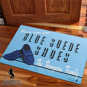 Personalized Doormat - Elvis Blue Suede Shoes - 11942