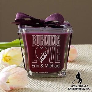 Personlized Elvis Burning Love Candles - 11943