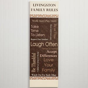 Personalized Canvas Art - Family Rules - 11946