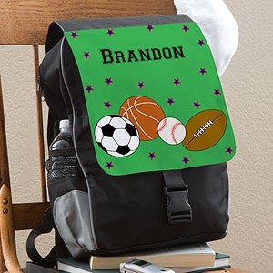 Personalized Sports Backpacks for Boys - Soccer, Basketball, Baseball, Football - 11962