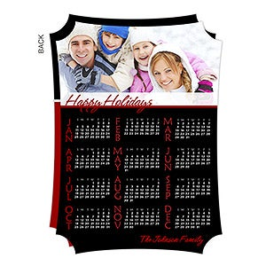 Personalized Photo Calendar Christmas Cards