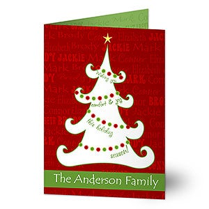 Personalized Christmas Cards - Christmas Tree - 11968