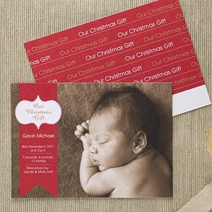 Personalized Baby's First Christmas Birth Announcements - 11973