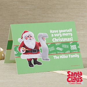 Personalized Christmas Cards - Santa Claus Is Comin' To Town - 11975