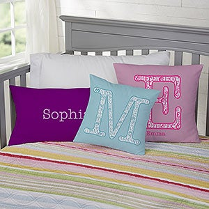 Personalized Kids Pillows - Name & Monogram - 11978