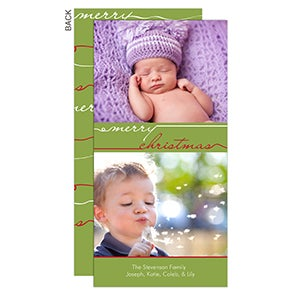 Personalized Photo Christmas Postcards - Merry Christmas - 11992