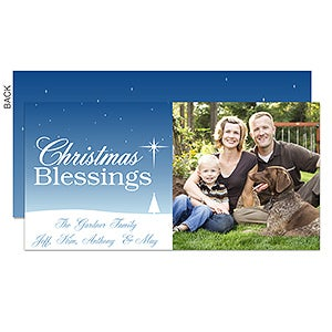 Personalized Christmas Postcards - Christmas Blessing - 11998
