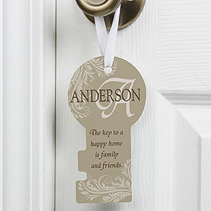 Personalized Door Knob Hanger - Happy Home - 12002