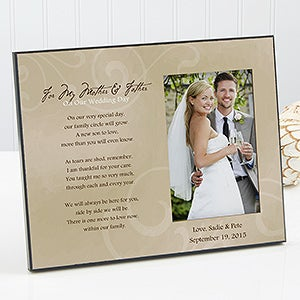 Special Wedding Gifts From Parents : Personalized Wedding Picture Frame - To My Parents - Wedding Gifts